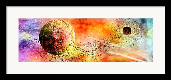 Abstract Framed Print featuring the digital art Space013 by Svetlana Sewell
