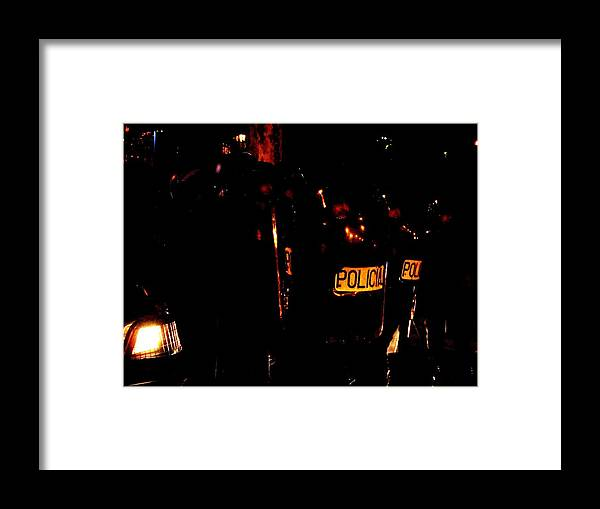 Framed Print featuring the photograph Spain In The Nigth by Ivan Rendon
