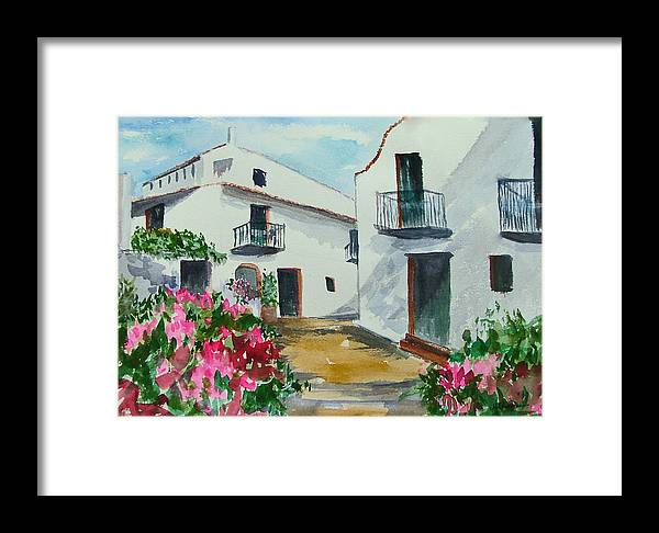 Houses Framed Print featuring the painting Spanish Balconies by Heidi Patricio-Nadon