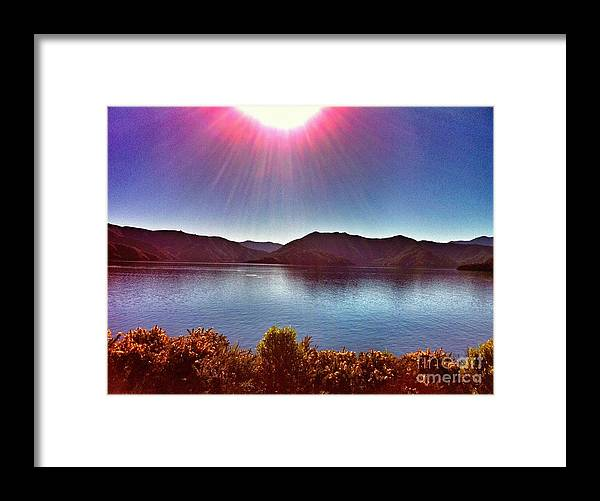 New Zealand Framed Print featuring the photograph Sparkly Pink by Alisha Robertson