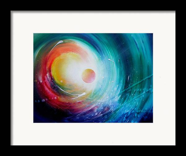 Microcosm Framed Print featuring the painting Sphere F31 by Drazen Pavlovic
