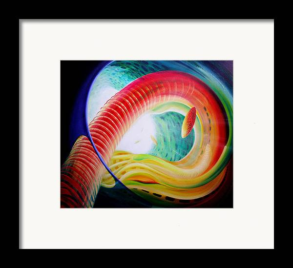 Microcosm Framed Print featuring the painting Sphere Serpula 2 by Drazen Pavlovic