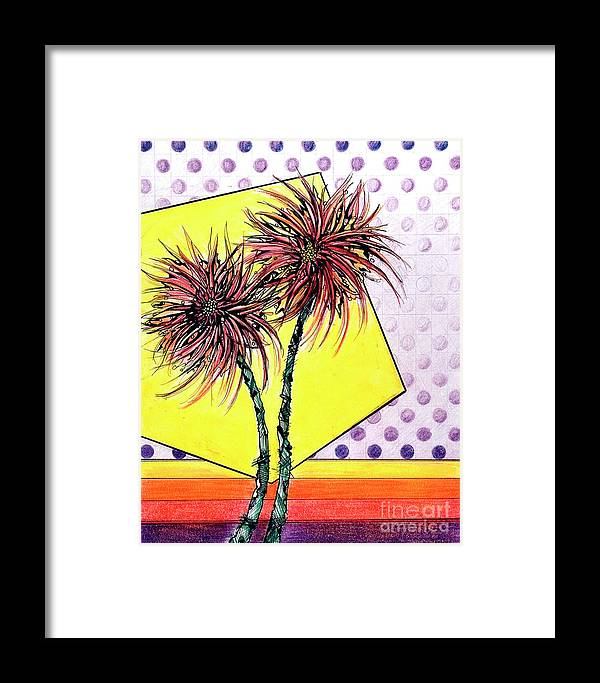 Lilies Framed Print featuring the drawing Spider Lilies by Danielle Scott