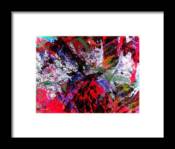 Abstract Framed Print featuring the painting Spin Cycle by Charles Yates