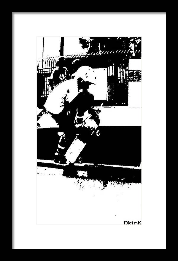 Skateboard Framed Print featuring the photograph Spinal Tap by Douglas Kriezel