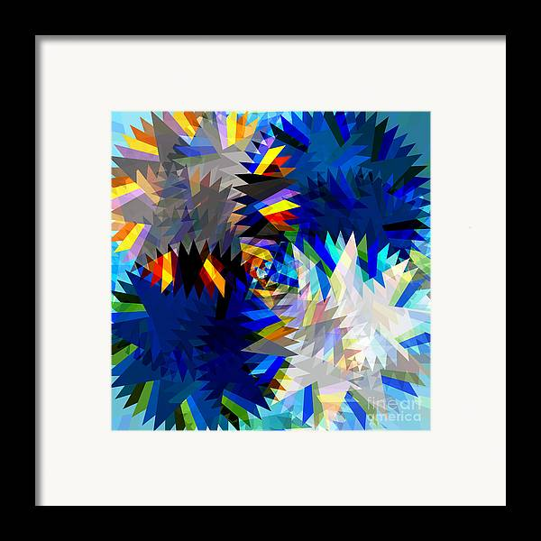 Art Framed Print featuring the digital art Spinning Saw by Atiketta Sangasaeng