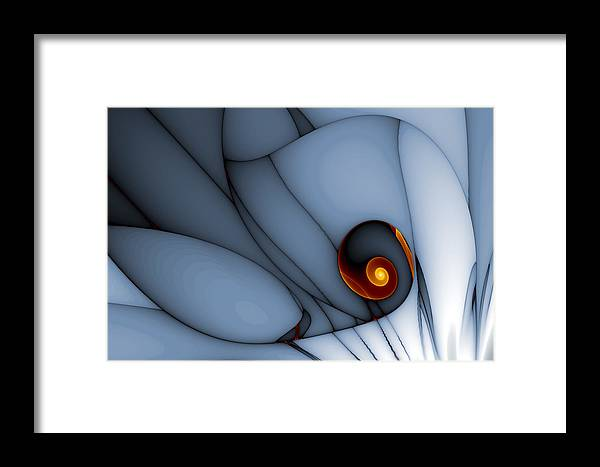 Abstract Framed Print featuring the digital art Spiral And Wobbly Lines by Mark Eggleston