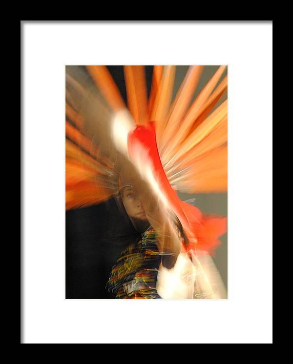Aztec Dancer Framed Print featuring the photograph Spirit Dance 2 by Paulina Roybal