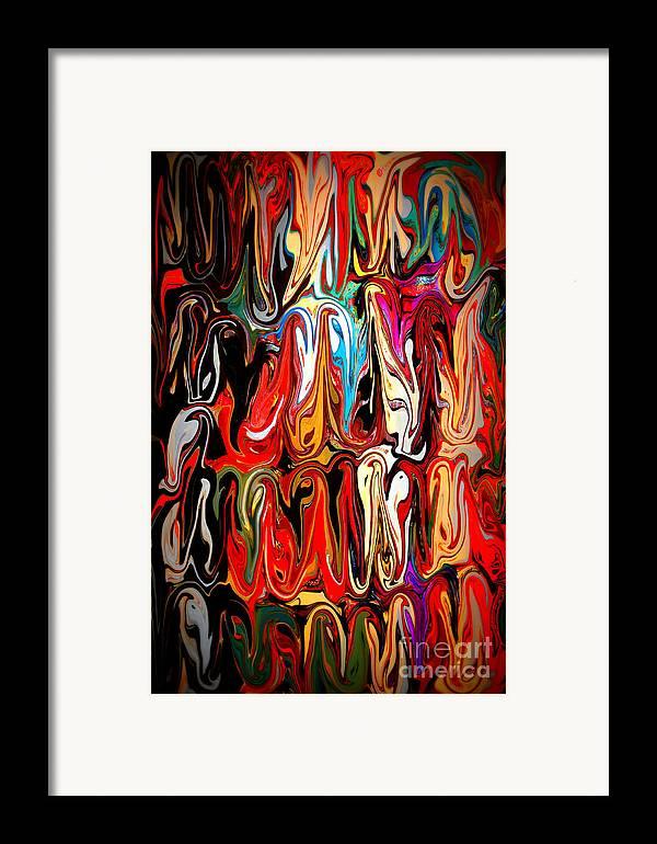 Abstract Framed Print featuring the digital art Spirit Of Mardi Gras by Carol Groenen