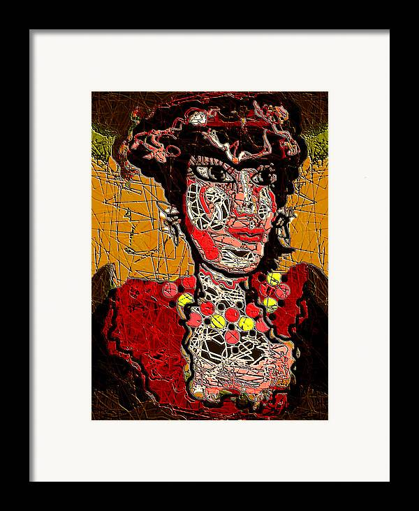 Splashy Lady Framed Print featuring the mixed media Splashy Lady by Natalie Holland