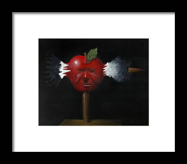 Surreal Framed Print featuring the painting Splitting Migraine by Will Crane