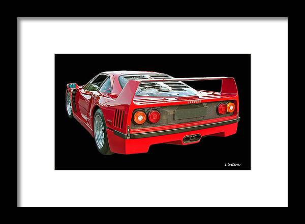 Ferrari F40 Framed Print featuring the photograph Spoiler 2 by Larry Linton