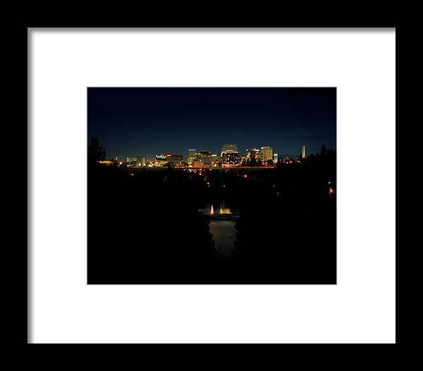 Framed Print featuring the photograph Spokane Dt by Dan Quam