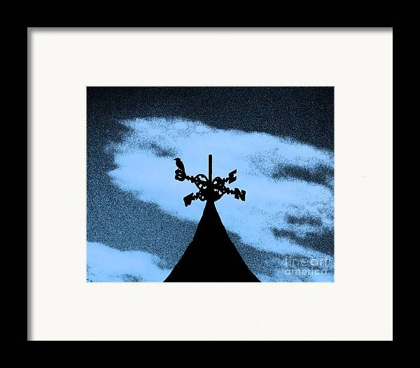 Wind Vane Framed Print featuring the photograph Spooky Silhouette by Al Powell Photography USA