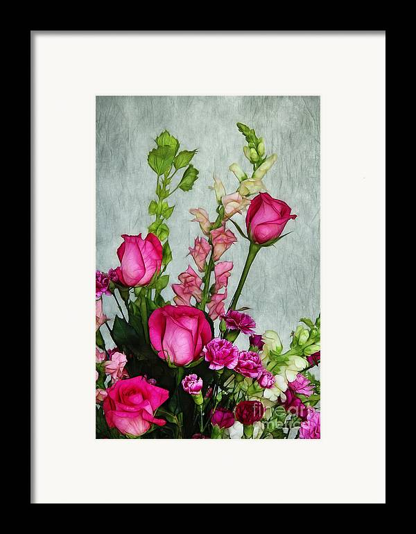 Roses Framed Print featuring the photograph Spray Of Flowers by Judi Bagwell