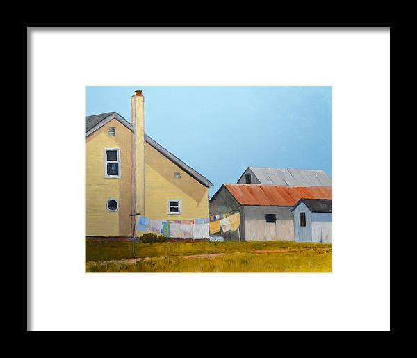 Landscape Framed Print featuring the painting Spreadsheets by Rick Jamison