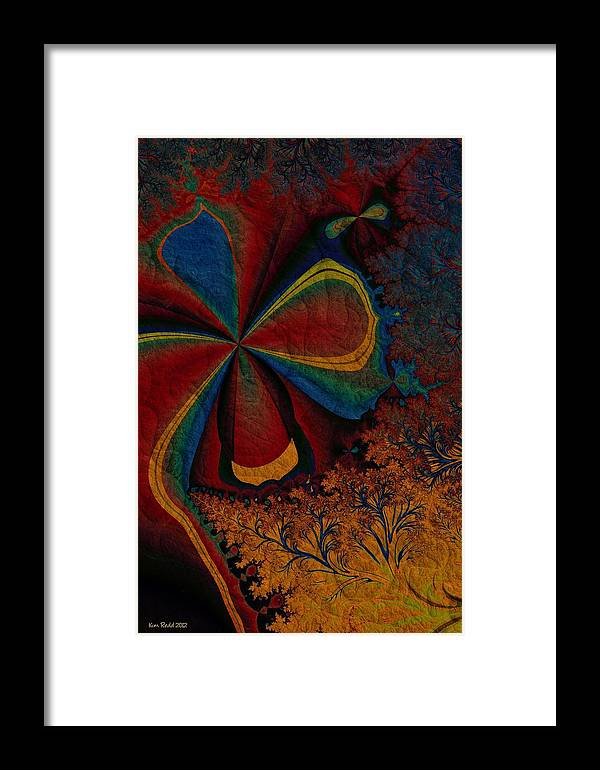 Fractals Framed Print featuring the digital art Spring Awakes by Kim Redd