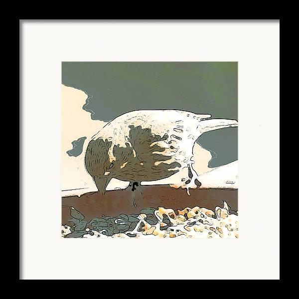 Bird Framed Print featuring the digital art Spring Bird by Artist and Photographer Laura Wrede