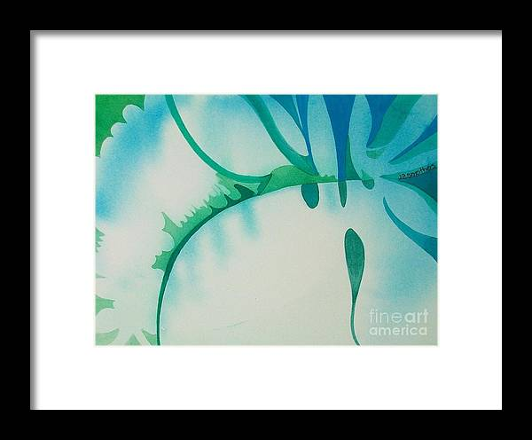Abstract Framed Print featuring the painting Spring Foliage by Judith A Smothers
