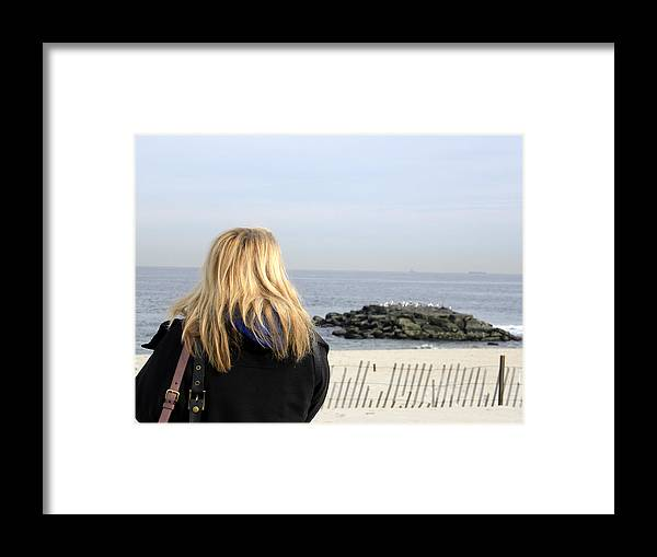 Pre-hurricane Framed Print featuring the photograph Spring Lake Nj Shore by Sue Rosen