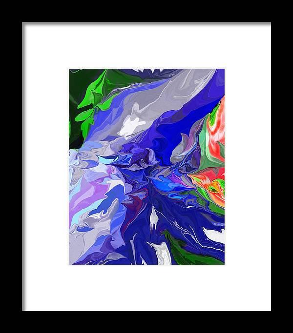 Fine Art Framed Print featuring the digital art Spring Melt by David Lane