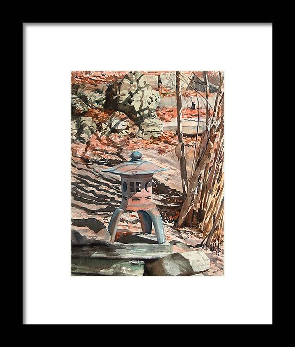 Framed Print featuring the painting Spring Shadows by Peter Sit