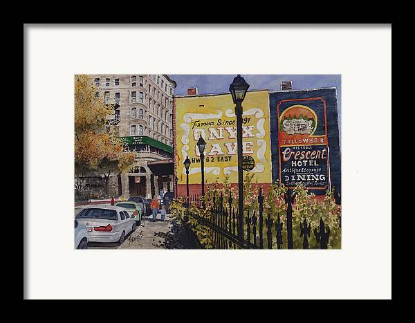 Spring Street Framed Print featuring the painting Spring Street At Basin Park by Sam Sidders