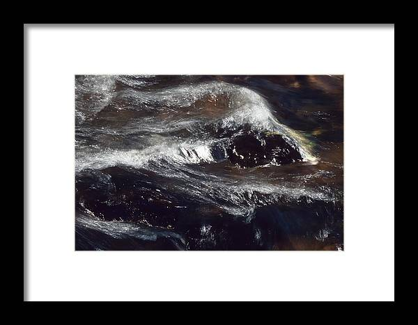 Black And Silver Plated Water Framed Print featuring the photograph Spring Water by Patrick Kessler