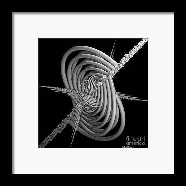 Abstract Framed Print featuring the digital art Sput 2 by Deborah Benoit
