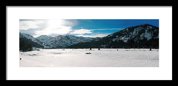 Framed Print featuring the photograph Squaw Valley Panoramic by Adam Blankenship