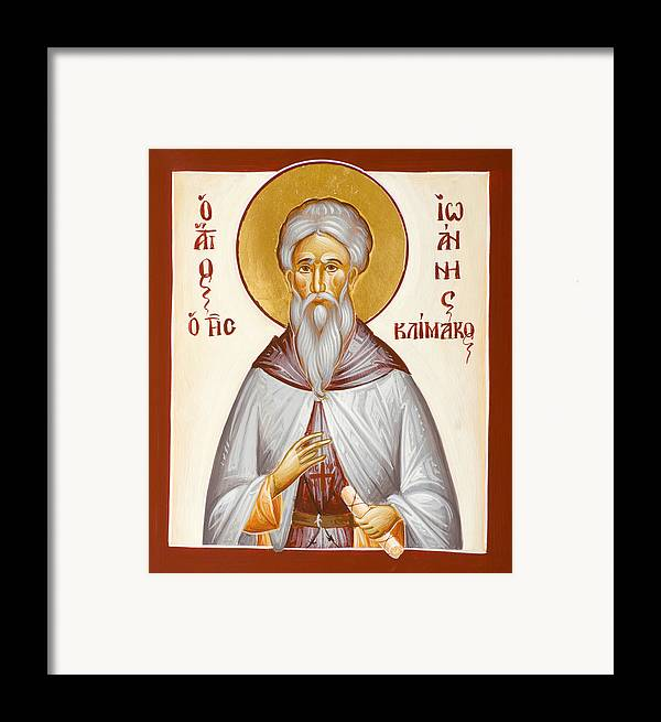 St John Climacus Framed Print featuring the painting St John Climacus by Julia Bridget Hayes