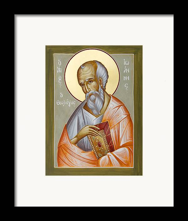 St John The Theologia Framed Print featuring the painting St John The Theologian by Julia Bridget Hayes