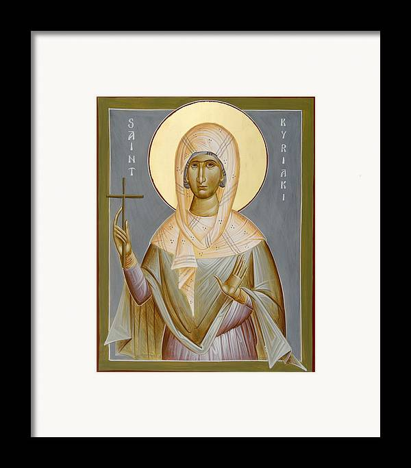 St Kyriaki Framed Print featuring the painting St Kyriaki by Julia Bridget Hayes