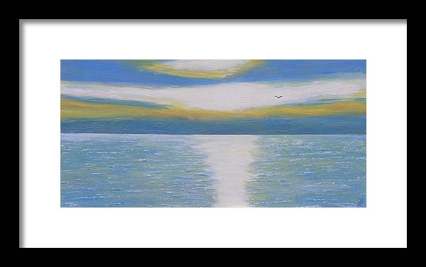 St Lawrence River Framed Print featuring the painting St Lawrence River Eagle by Robert P Hedden