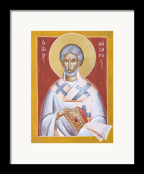 St Lazarus Framed Print featuring the painting St Lazarus by Julia Bridget Hayes