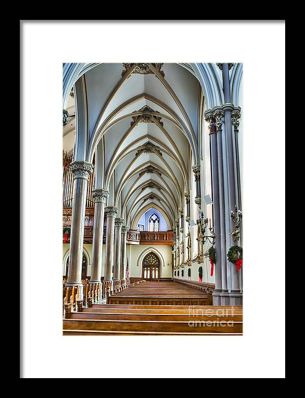 Framed Print featuring the photograph St Louis Church 15 by Chuck Alaimo