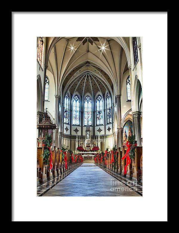 Framed Print featuring the photograph St Louis Church 2 by Chuck Alaimo