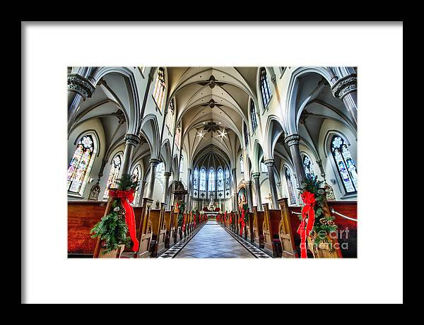 Framed Print featuring the photograph St Louis Church 4 by Chuck Alaimo