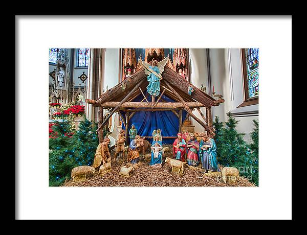Framed Print featuring the photograph St Louis Church 7 by Chuck Alaimo
