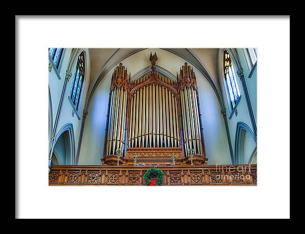 Framed Print featuring the photograph St Louis Church 9 by Chuck Alaimo