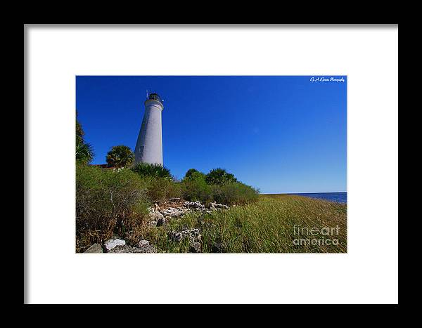 St Marks Lighthouse Framed Print featuring the photograph St Marks Lighthouse Along The Gulf Coastst by Barbara Bowen