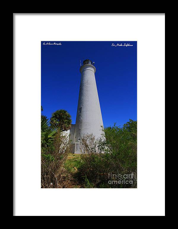 St Marks Lighthouse Framed Print featuring the photograph St Marks Lighthouse by Barbara Bowen