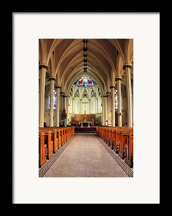 Church Framed Print featuring the photograph St. Mary's Basilica Halifax by Kristin Elmquist