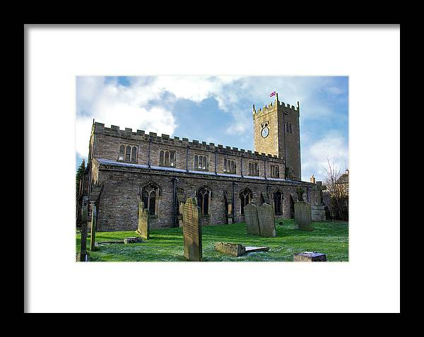 Askrigg Framed Print featuring the photograph St Oswald's Church - Askrigg by Trevor Kersley
