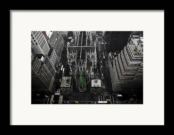 Palace Hotel Framed Print featuring the pyrography St. Patricks Cathedral by Marcel Krasner