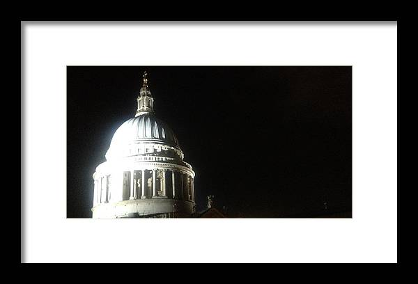 Lloyds Of London Framed Print featuring the photograph St Pauls At Night by John Colley