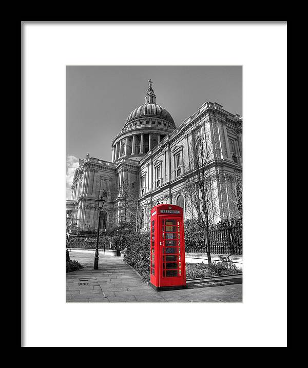 St Framed Print featuring the photograph St Pauls Telephone Box by Andy Linden