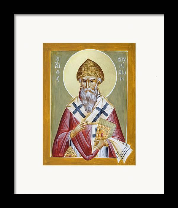 St Spyridon Framed Print featuring the painting St Spyridon by Julia Bridget Hayes