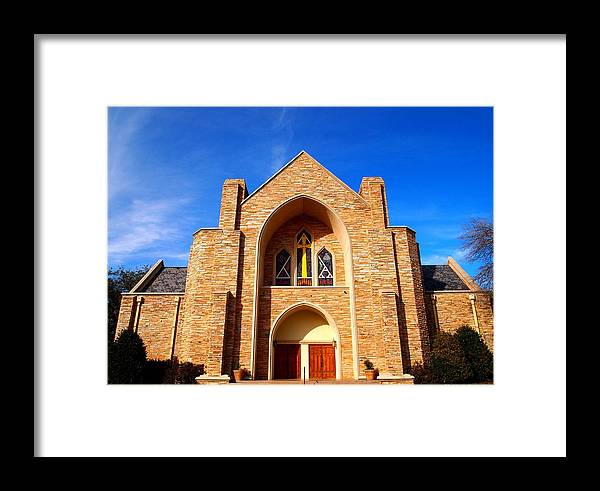 St. Stephens Framed Print featuring the photograph St. Stephens Presbyterian Church by Judge Howell