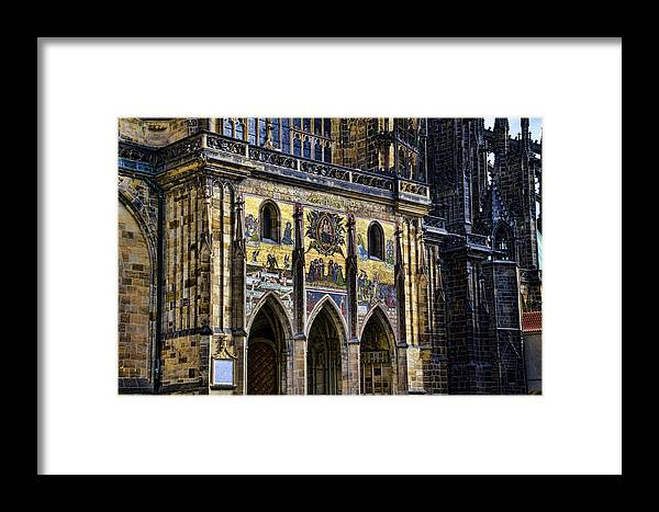 St Vitus Cathedral Framed Print featuring the photograph St Vitus Cathedral Entrance by Jon Berghoff
